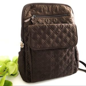 {VERA BRADLEY} Backpack Expresso Brown Quilted